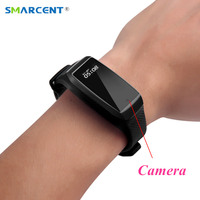SMARCENT K69 Smart Bracelet Sports dv Camera HD 1080P Mini Camera Wristband Secret Camera Sports Kamera Micro Camara Pedometer
