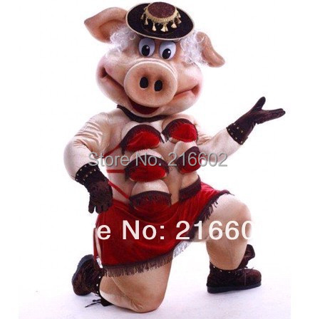 Puppets Striptease Strip Pig Swinish Mascot Costume, Party Outfits Fancy Dress - mascot trade factory store