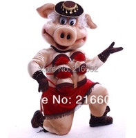 cosplay costumes of Puppets Striptease Strip Pig Swinish Mascot Costume, Party Outfits Fancy Dress
