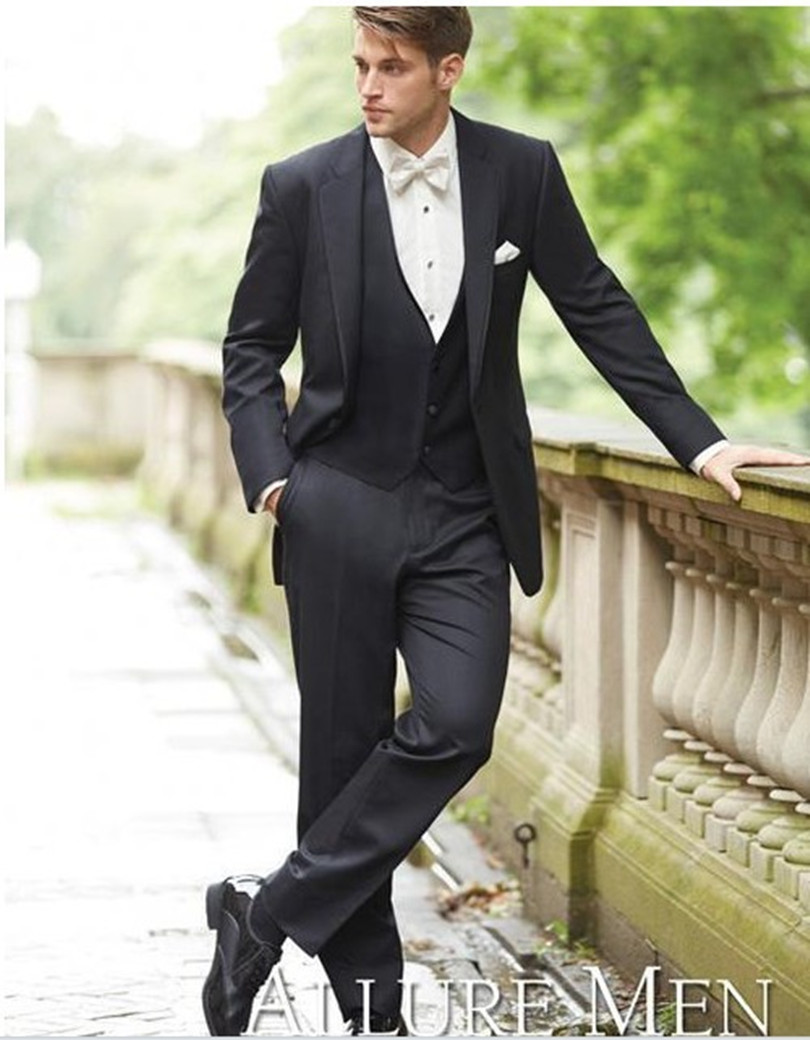 Aliexpress.com : Buy tuxedo suits high quality groom wear black 3 ...