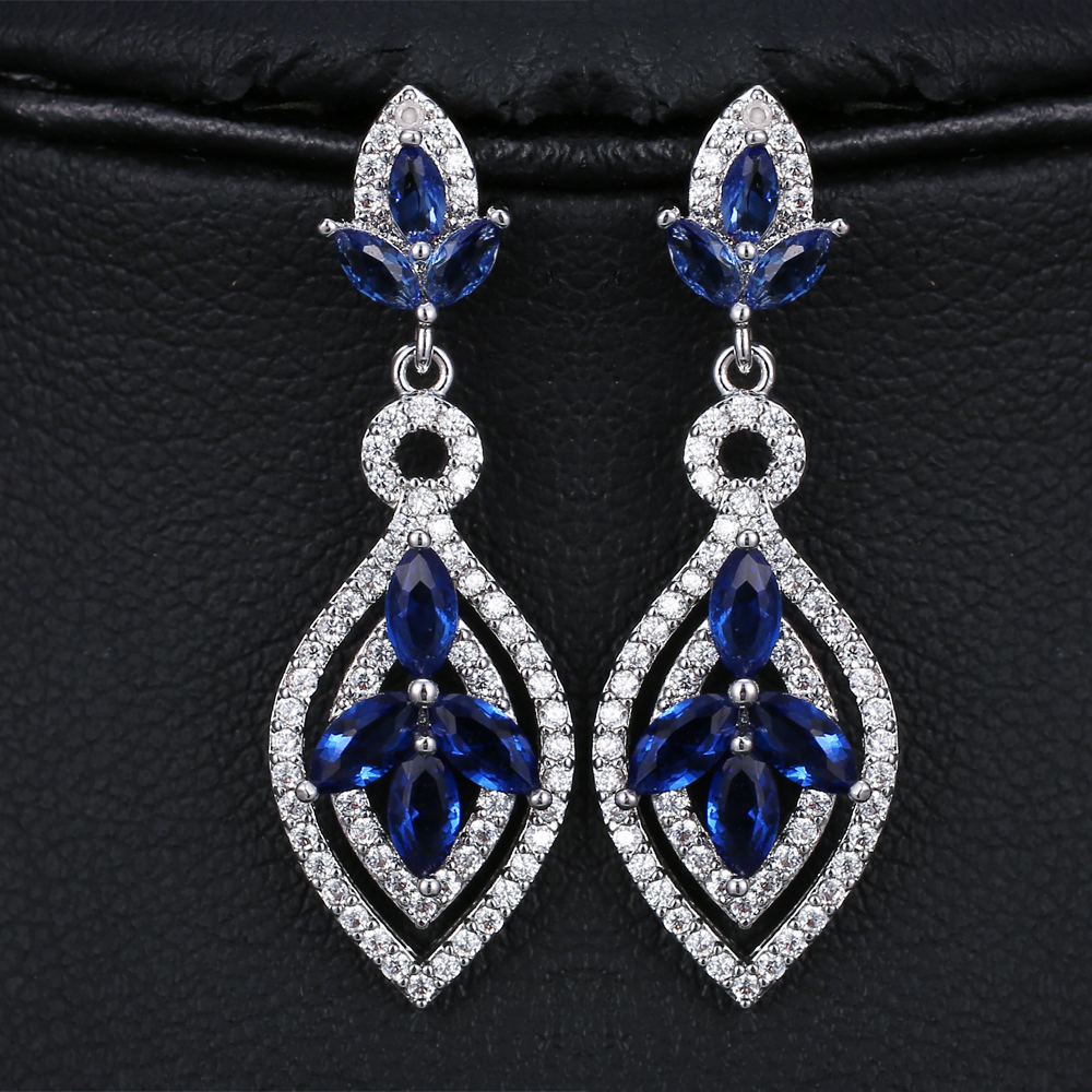 High Quality White Gold color CZ crystal Drop Earrings For Women