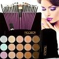 15 Professional Colors Contour Face Cream Makeup Concealer Palette+20Pcs Purple Practical Brush Set Makeup Combination  FE#8