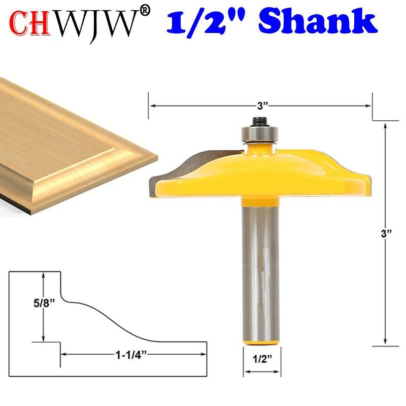 1ピース1/2 シャンク隆起パネルルータービットのオジードア 3直径ケースドアナイフ木工カッターほぞカッター木工ツール    グループ上の ツール からの フライスカッター の中