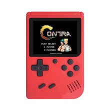Ретро Портативный мини портативные игровые консоли 8 бит 3 дюймов Цвет ЖК-дисплей детская Цвет игровой плеер встроенный 168 игр