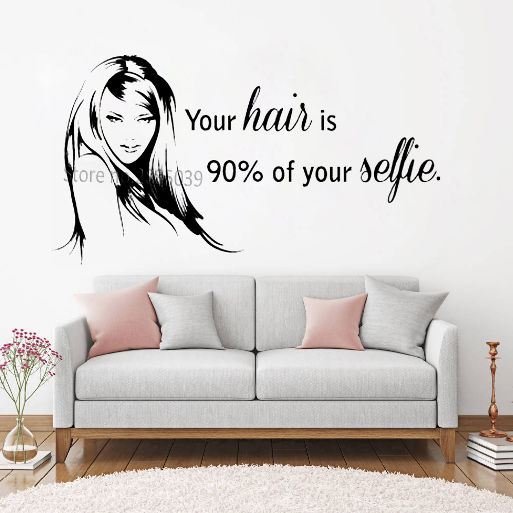Votre Nom Sur Un Mur Sticker Autocollant Mural Decal Citations - Stickers Salon Citation