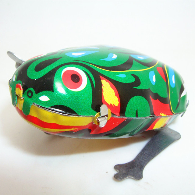 545ca72fd98c Classical Kids Tin Wind Up Clockwork Toy Jumping Frog Tin Toys for ...