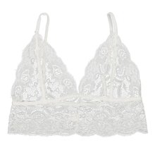 Floral Lace See-Through Cami Tank Crop Tops RK