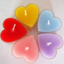 2018 new arrival 10pcs/lot heart-shaped candle wedding decoration Valentines Day gift scented paraffin