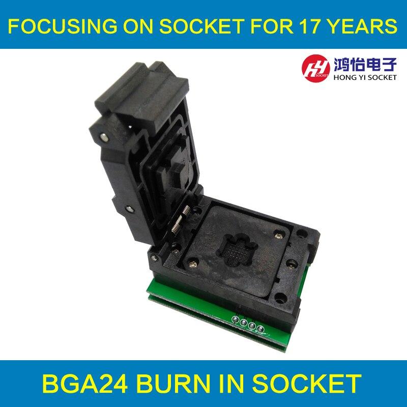 BGA24 PARA DIP8 IC Adaptador de Tomada para 8x6mm Largura Do Corpo chips BGA SMT/SMD Soquete De Teste
