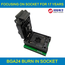 BGA24 TO DIP8 IC Adapter Socket for 8x6mm Body Width BGA chips цена
