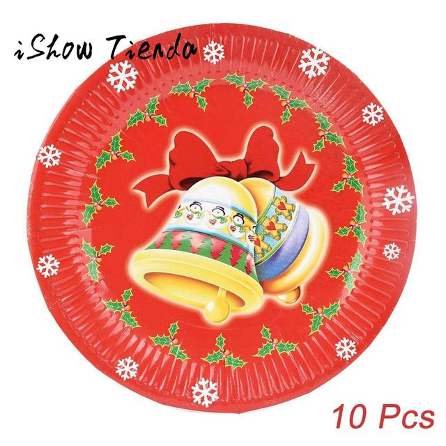 10 Pcs Christmas Santa Paper Plates Festive Supplies Party Tissue Decoration For New Year Gift #  sc 1 st  AliExpress.com & 10 Pcs Christmas Santa Paper Plates Festive Supplies Party Tissue ...