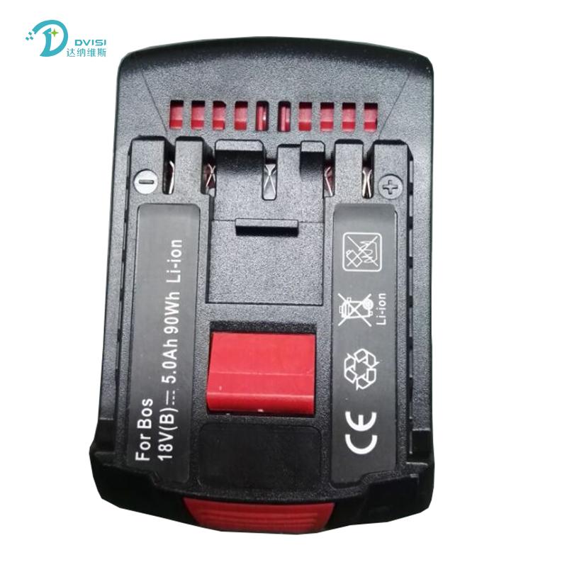 Prix pour Remplaçable Haute Capacité 18 V 5.0Ah Li-ion Extended Forage Batterie pour Bosch BAT609 BAT609G BAT610G BAT618 BAT618G BAT619 BAT619G