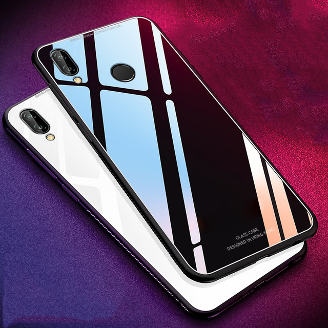 Gloosy Tempered Glass Case For Meizu Note 9 Case Soft TPU Frame Hard Back Cover For Meizu Note 9 Phone Case Rezzol Coques