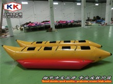 0.9mm PVC 8 people inflatable banana boats for snow game