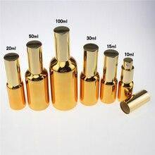 high-grade 100pcs fine mist 50 ml glass spray bottle for perfume ,wholesale perfume bottles 50ml, golden mist spray pump bottle