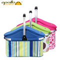 Apollo large Picnic Thermal cooling basket Insulated cooler bag 32L lunch bag Waterproof foldable ice bag