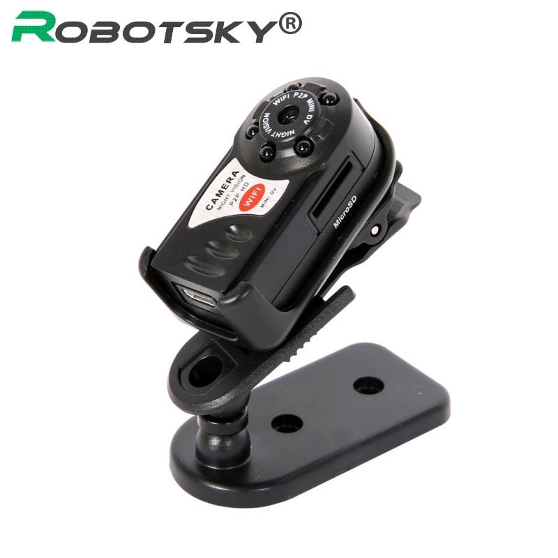 Mini Q7 Camera 480P Wifi DV DVR Wireless IP Cam Mini Video Camcorder Recorder Infrared Night Vision Small Camera Support TF Card