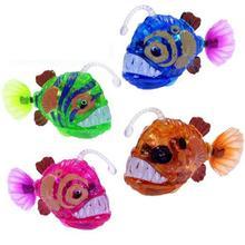 Electronic Flashing Swim Fish Toys Activated Battery Powered Lantern fish Pet