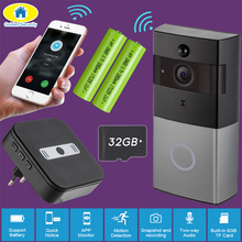 Golden Security WiFi Door Bell Video Intercom Doorbell 720P HD Alarm Security Camera Night Version Wireless Waterproof Doorbell