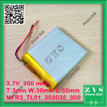 303035 three.7V 300mah Lithium polymer Battery with Safety Board For PDA Pill PCs Digital Merchandise 3x30x35mm 300 mAh 033035
