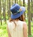 Kesebi 2017 Verano Nuevas Mujeres de La Manera Caliente Flores Casual Knitting Color Sólido Sombreros de Sun Mujer Clásico Simple Beach Sombreros Gorras