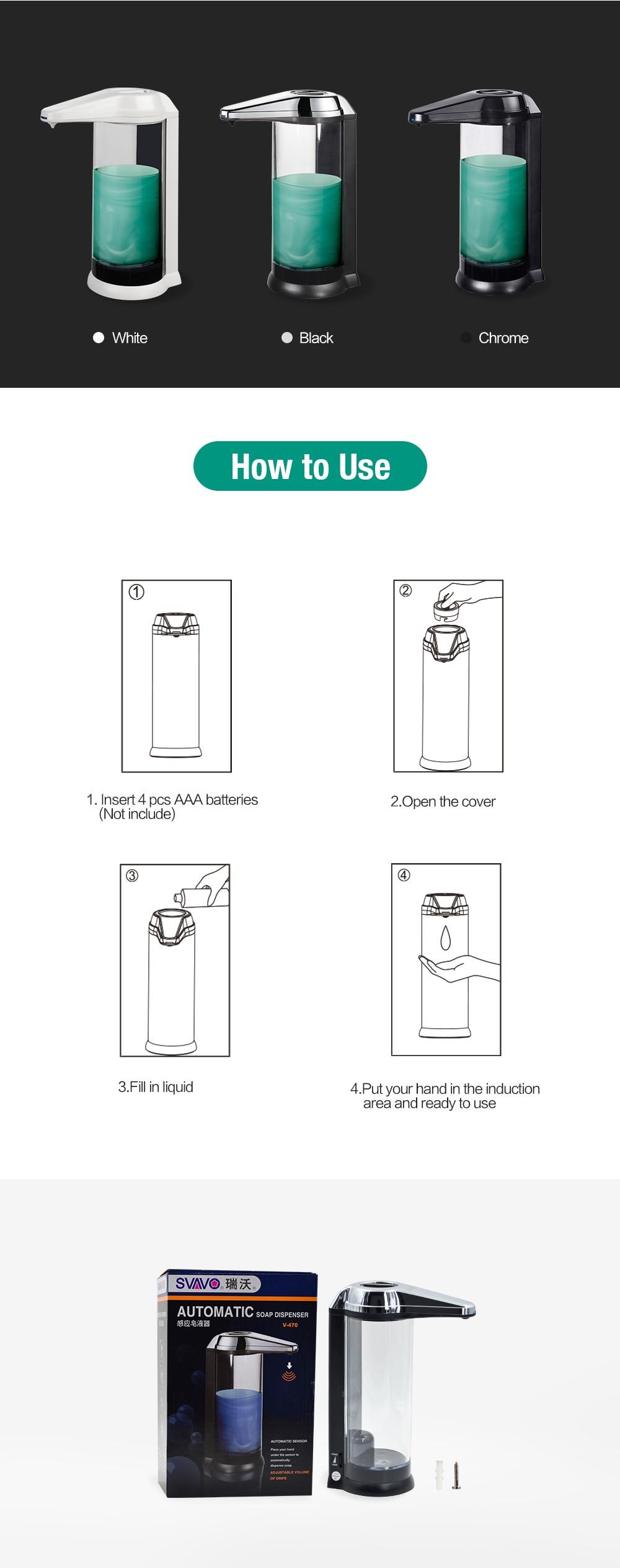 Hand Freies 500 ml Automatische Seife Spender Touchless Sanitizer ...