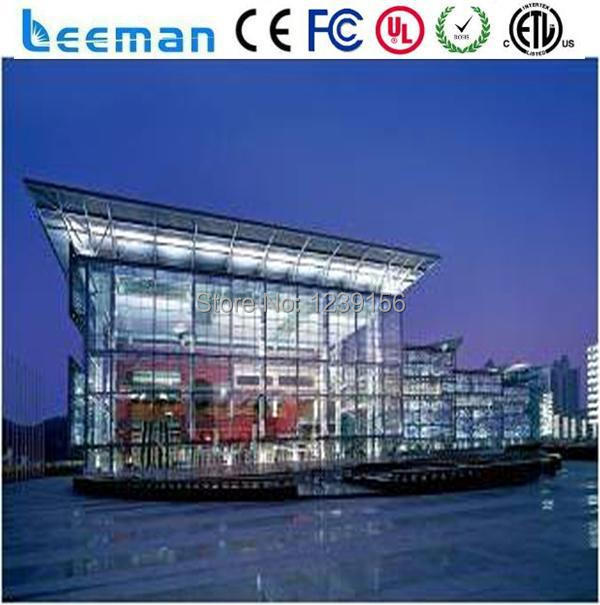 US $351 37 |LEEMAN OPTOELECTRONIC technology Limited P31 25mm transparent  outdoor led screens for advertising/glass wall/building facade-in LED