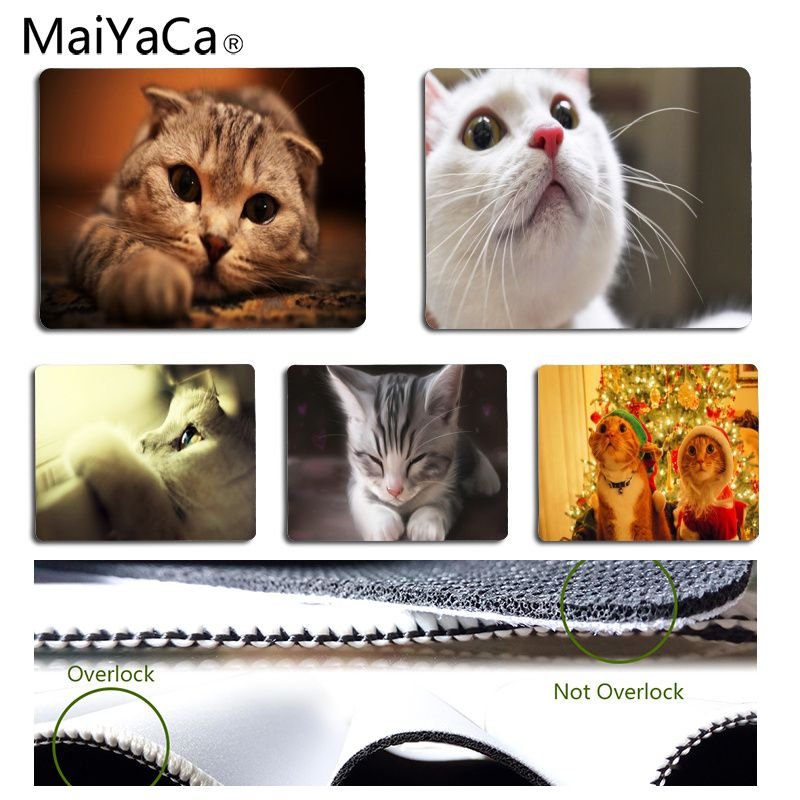 MaiYaCa Cute cat Customized laptop Gaming mouse pad Size for 18X22CM Speed Version Gaming Mousepads