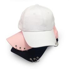 Baseball Cap with Rings Bboy Adjustable Casual Snapback Sport Hip-Hop Ball Hat B
