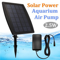 Plastic Solar Power Aquarium Air Pump 2.5W Fish Tank Pond Oxygen Hydroponics Aerator Solar Panel Oxygenation Pumps Tools