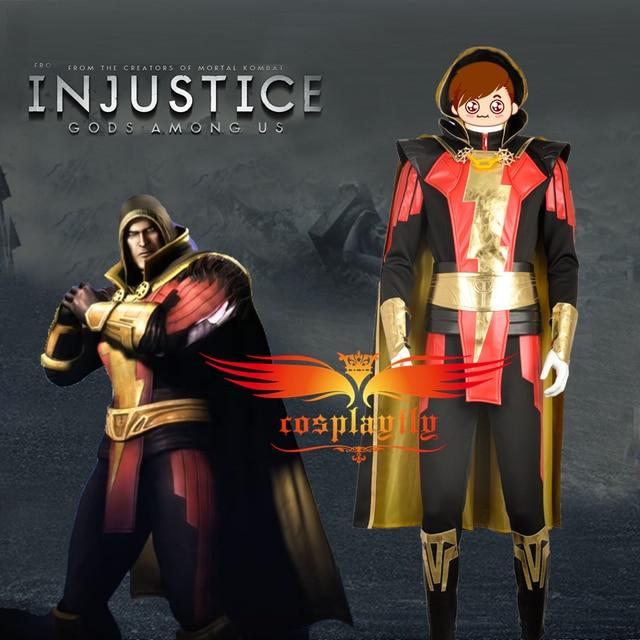 Webgame Injustice Gods Among Us Captain Marvel Dominator Shazam For Adult Cosplay Costume Custom Made