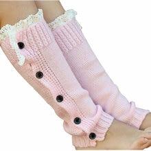 Bnaturalwell/вязаные гетры для маленьких девочек, вязаные крючком, с кружевной отделкой и пуговицами, Детские Зимние гетры, носки для обуви, JT012S