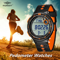 POPART Pedometer Sport Watches For Women Watches Waterproof Luxury LED Digital Ladys Watch for Woman Clock Relogio Feminino 2018