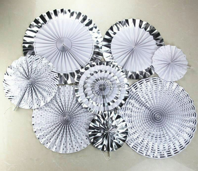 Vintage Wedding Decorations Party Paper Fan Pinwheel Backdrop Gold Silver Theme for Happy New Year Kids Birthday Decor Supplies-in Party Backdrops from Home ... & Vintage Wedding Decorations Party Paper Fan Pinwheel Backdrop Gold ...