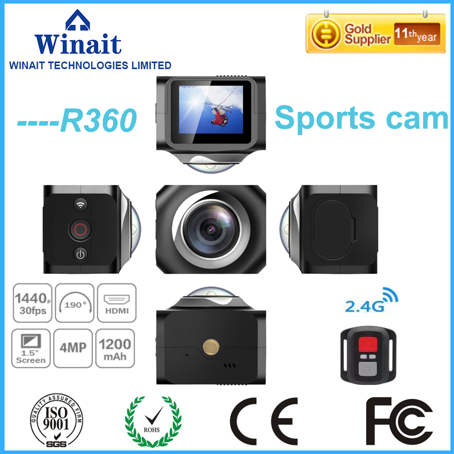 ФОТО 5Pcs/Lot DHL Free Ship Winait WiFi Remote Control Video 220 Degree Ultra Wide Lens 190 DV H360 R360 VR360 Action Sports Camera