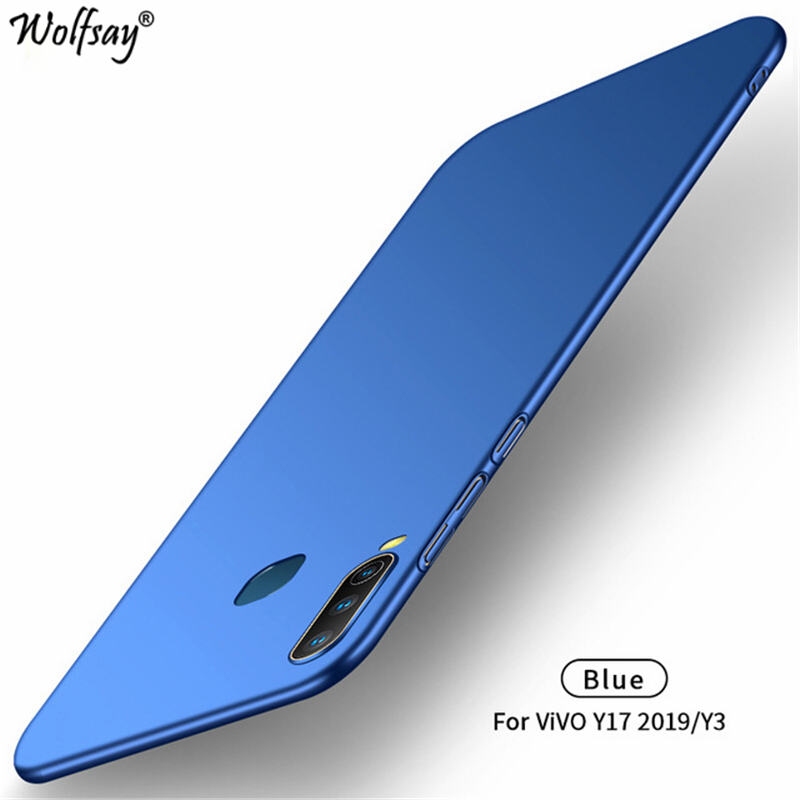 Wolfsay For Cover <font><b>Vivo</b></font> Y17 <font><b>Case</b></font> <font><b>Vivo</b></font> <font><b>Y3</b></font> Ultra Thin PC Armor Hard Back Phone <font><b>Case</b></font> For <font><b>Vivo</b></font> Z17 V1902 V1901A Cover Phone Shell image