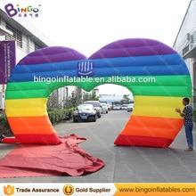 Надувные Радуги арка/надувные форме сердца арку 7*4 м для свадебных мероприятий игрушки