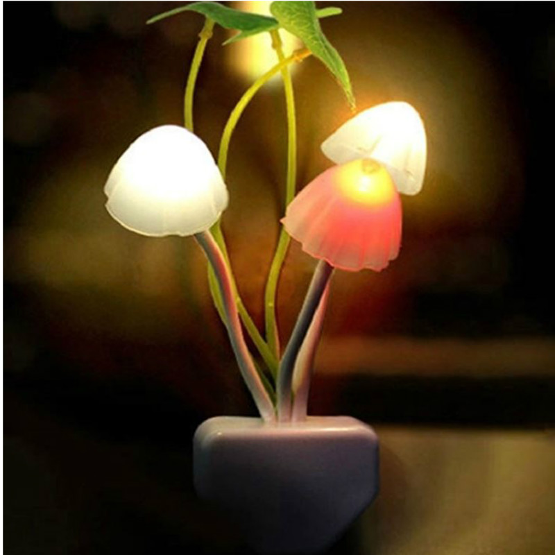 Led Mushroom Sensor Night Light Decorative Lamp EU US Baby Children Novelty Wireless Wall Projector Nightlight