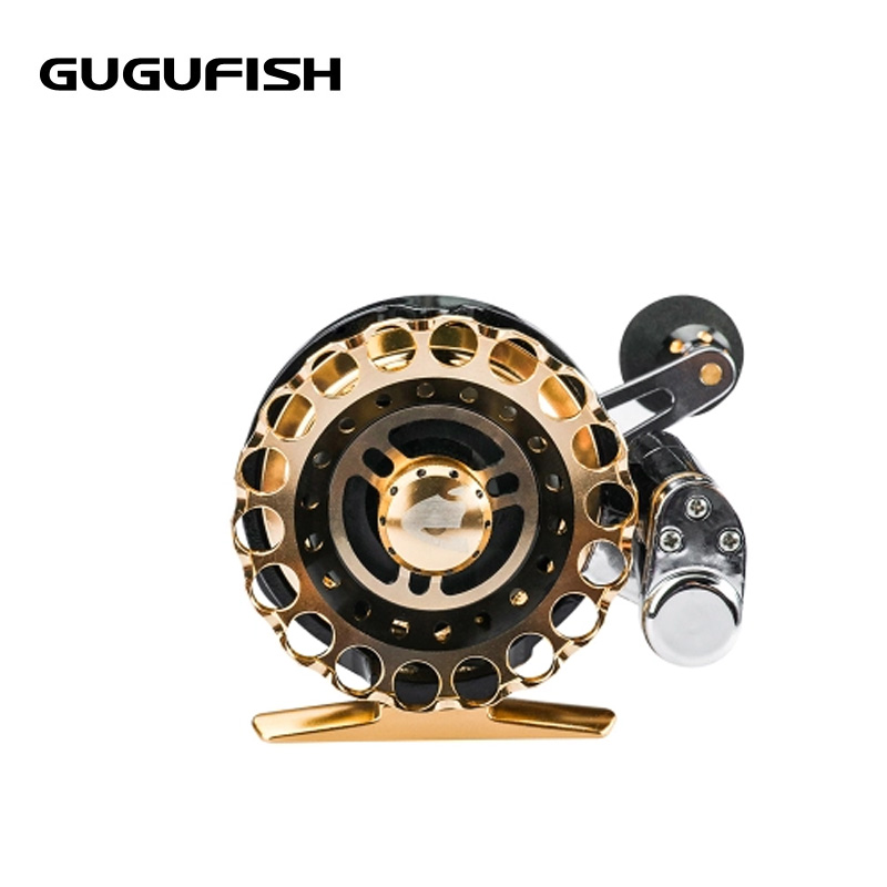 GUGUFISH Metal fishing Reels raft wheel Automatic cutting wheel 3.0:1 Velocity contrast Fishing Left/Right Hand Fishing wheel