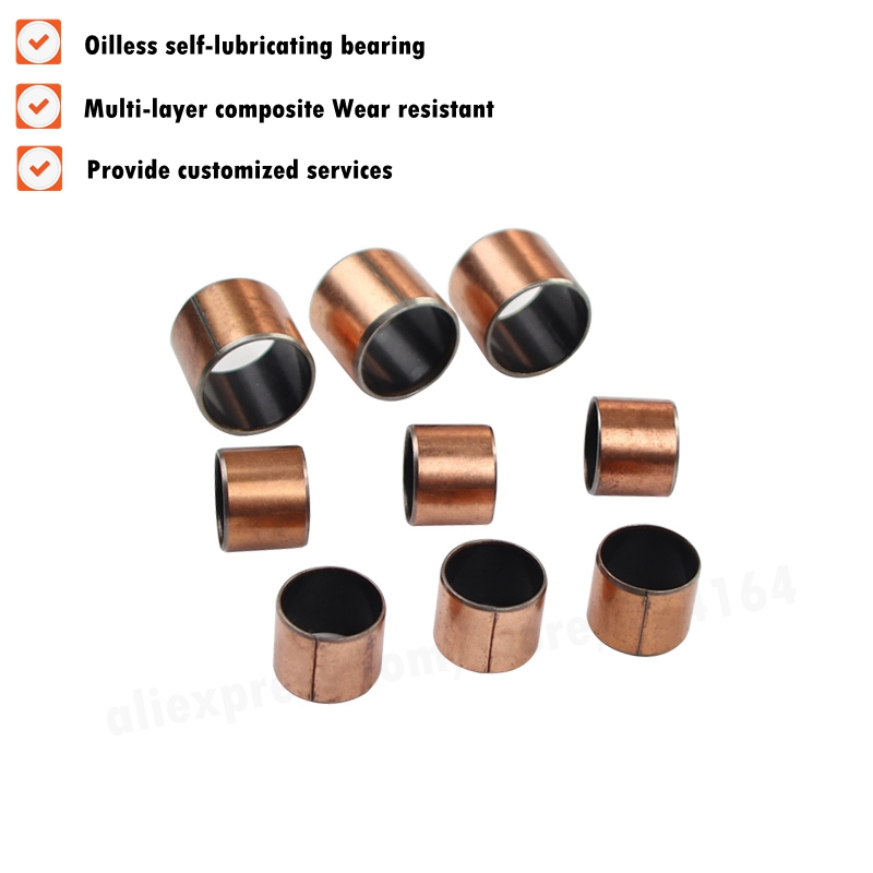 New 10pcs SF-1 2525 Self Lubricating Composite Bearing Bushing Sleeve 28*25*25mm