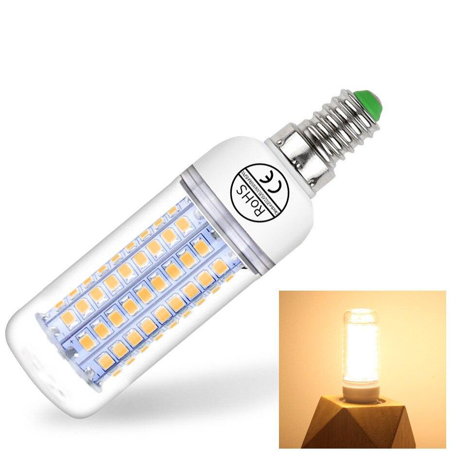 E14 Led Candle Bulb Energy Saving E27 Lamp Lights 24 36 48 56 69 72LEDs 220V Chandelier Light Spotlight Bombillas Led For House
