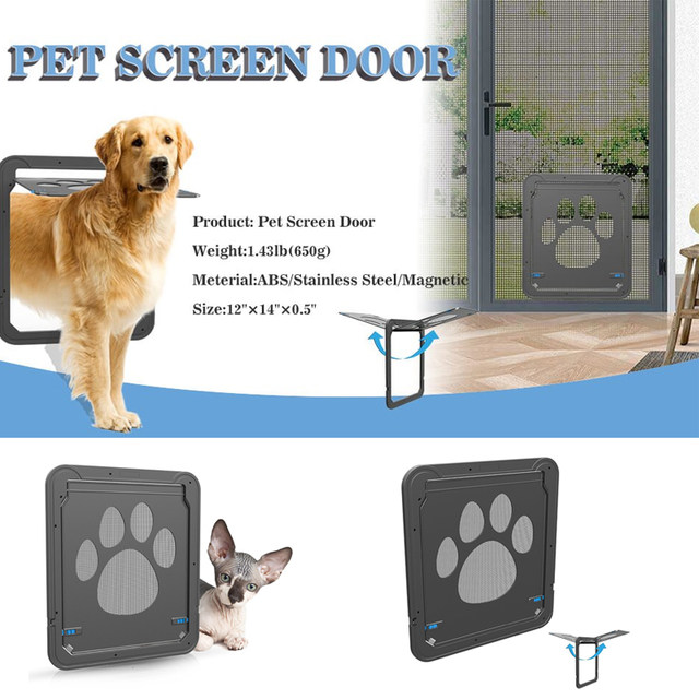 Online Shop Lockable Cat Flap Pet Door Automatic Dog Cat Door