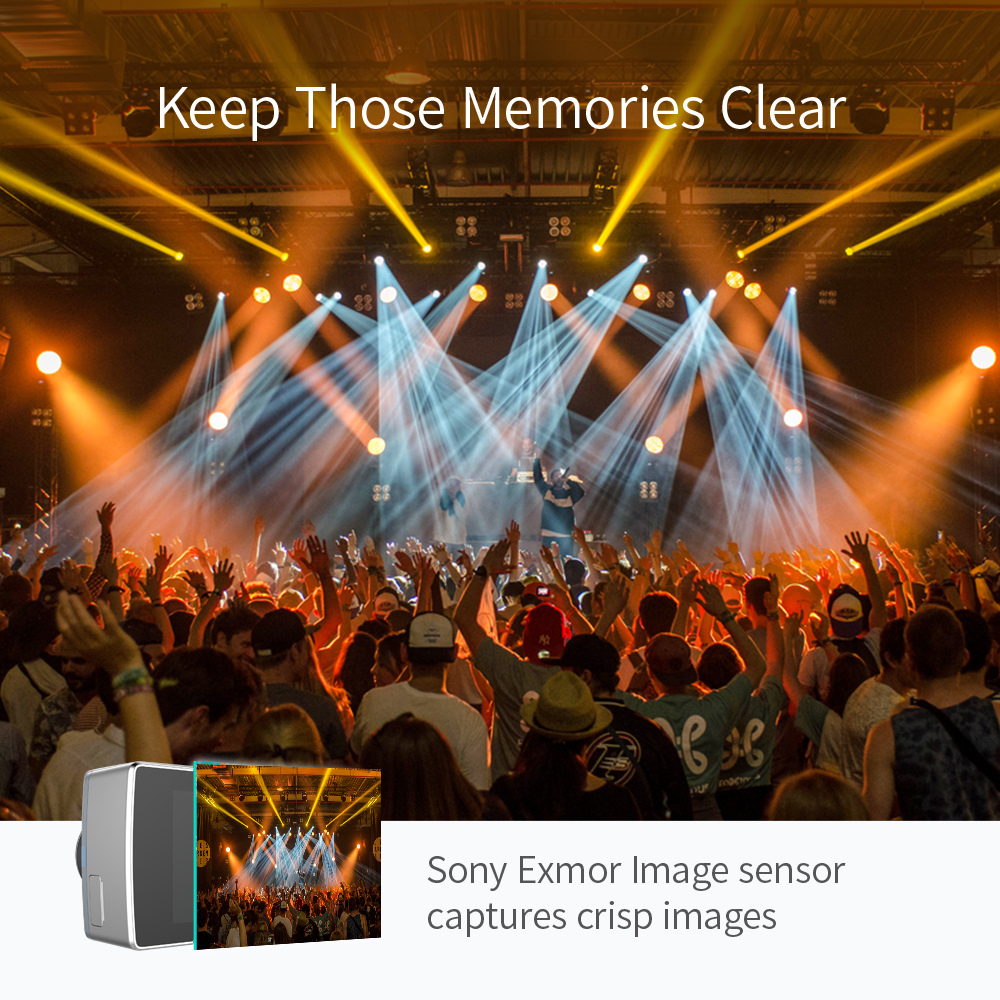 YI Lite caméra d'action 16MP Réel 4 K Sport Caméra avec WIFI Intégré 2 Pouces écran lcd 150 Degrés Objectif Grand Angle noir - 6