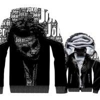 Men's Hoodies Autumn Winter Zip Coats 2018 Fashion Superhero Batman The Dark Knight 3D Joker Sweatshirts For Men Harajuku Hoodie