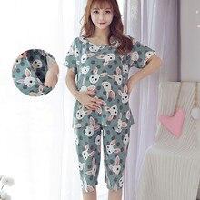 007721f61 Verano pijamas de lactancia pijamas de maternidad de enfermería conjuntos  de pijama de maternidad de enfermería ropa de dormir e.