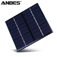 ANBES Solar Panel 9V 2W 222mA Polycrystalline Silicone Solar System DIY For Battery Cell Phone Chargers  Portable Solar Panel