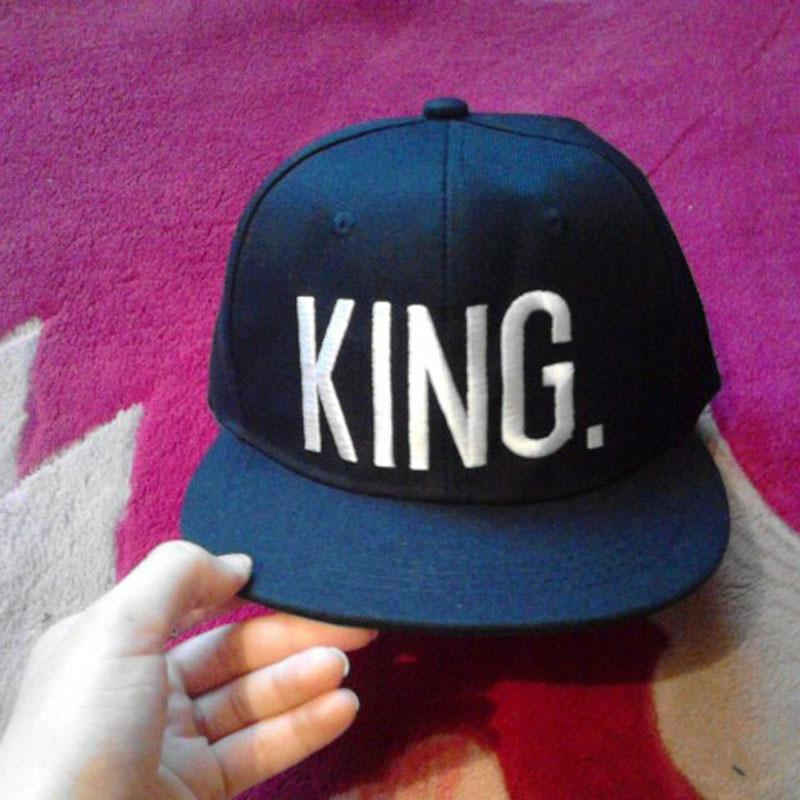 Fashion KING QUEEN Hip Hop Baseball Caps Embroider Letter Couples Lovers  Adjustable Snapback Sun Hats for Men Women KH981562 1c1d41b6f88e