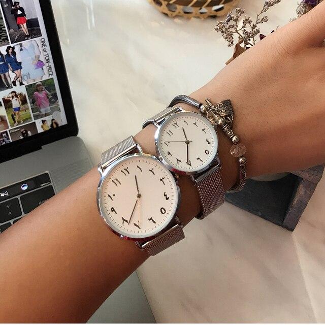 08e2a2a3d2c BGG Marca de luxo Exclusivo Números Arábicos 2017 Branco Preto Malha de Aço  do Relógio da
