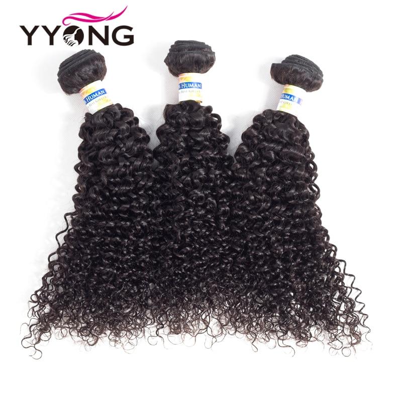 Yyong Haarbündel mit Spitzenverschluss Frontal Günstige Curly - Menschenhaar (für Schwarz) - Foto 2