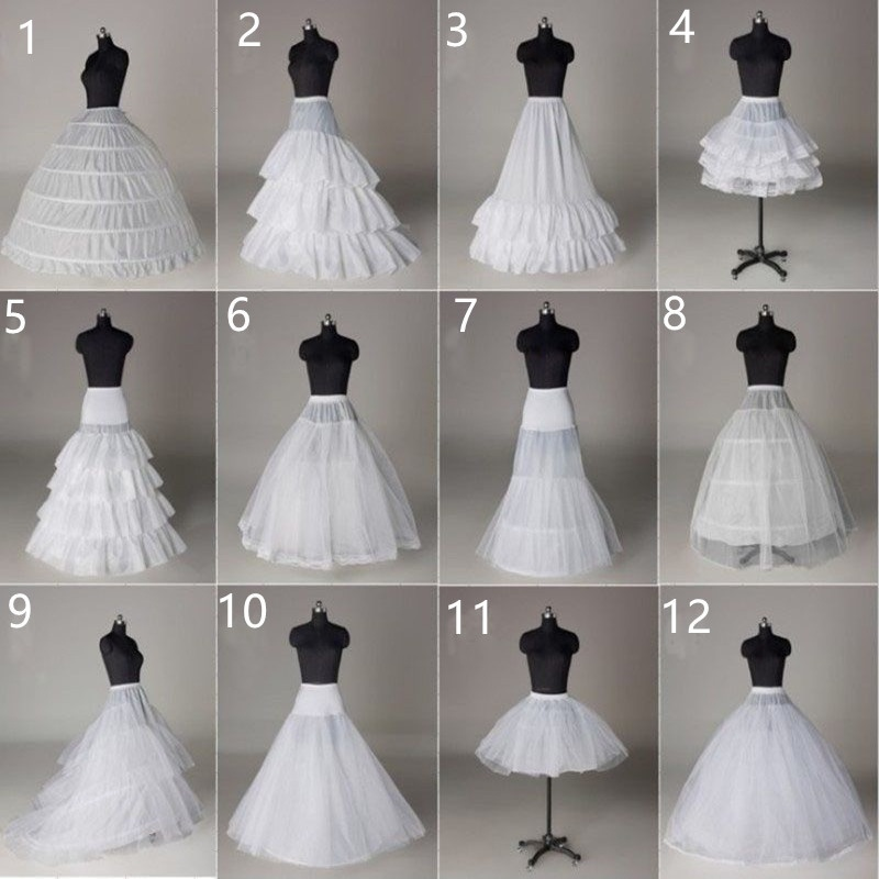 BacklakeGirls Wholesale In Stock Crinoline Petticoat Wedding Skirt All Style TuTu Hoop Underskirt Bridal Petticoats Rockabilly